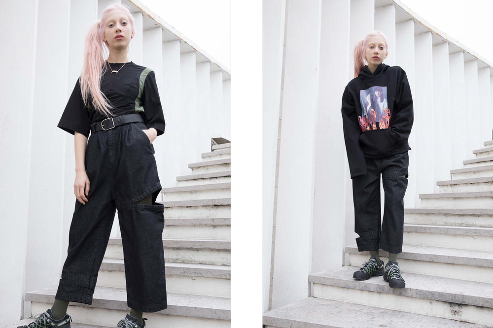 P.A.M. Fall/Winter 2018 Lookbook T-shirt Pants Sweatshirt Black