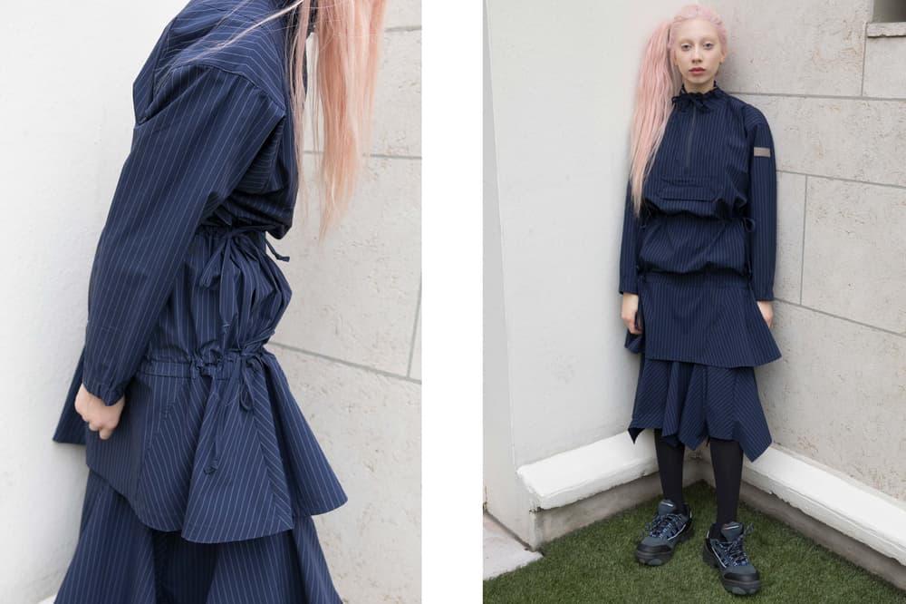 P.A.M. Fall/Winter 2018 Lookbook Ebb and Flow Dress Navy