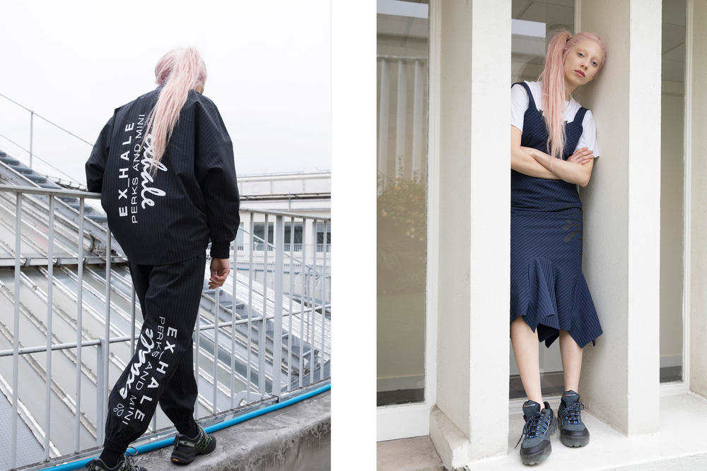 P.A.M. Fall/Winter 2018 Lookbook Exhale Windcheater Black Eurus Slip Dress Navy
