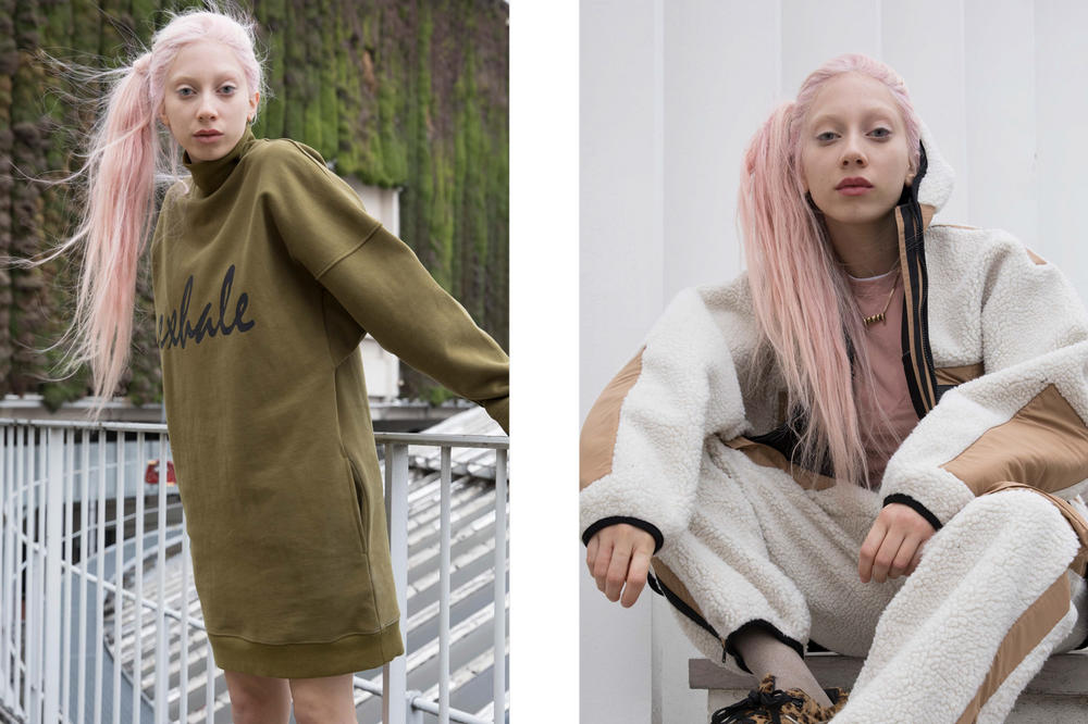 P.A.M. Fall/Winter 2018 Lookbook Elevation High Neck Dress Olive Drab