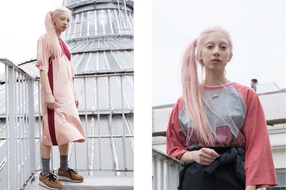 P.A.M. Fall/Winter 2018 Lookbook Long Sleeve Dress Pink Top Grey Red