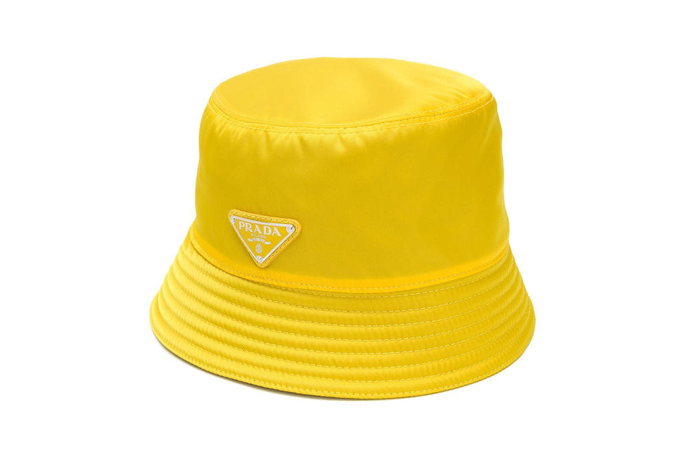 edf36301ba2 Prada Bucket Hat Yellow Stitch Detail. Farfetch