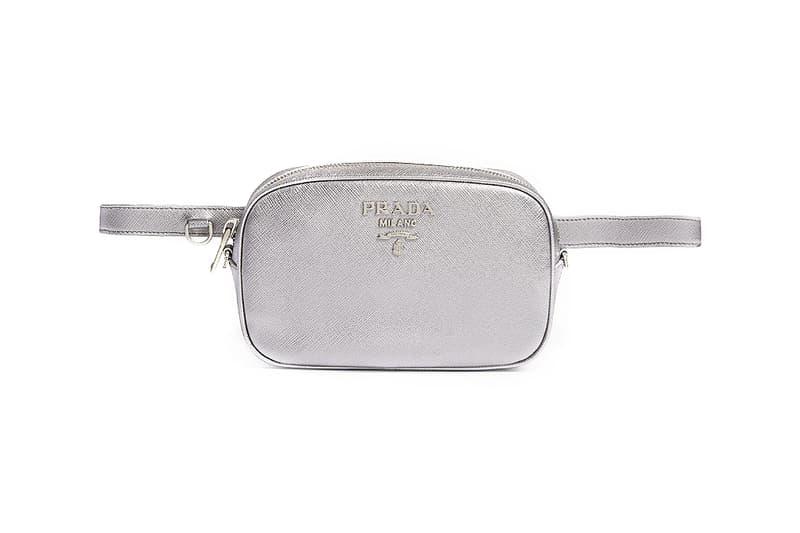 de0d7fac6575 Prada Releases Metallic Silver Logo Bumbag