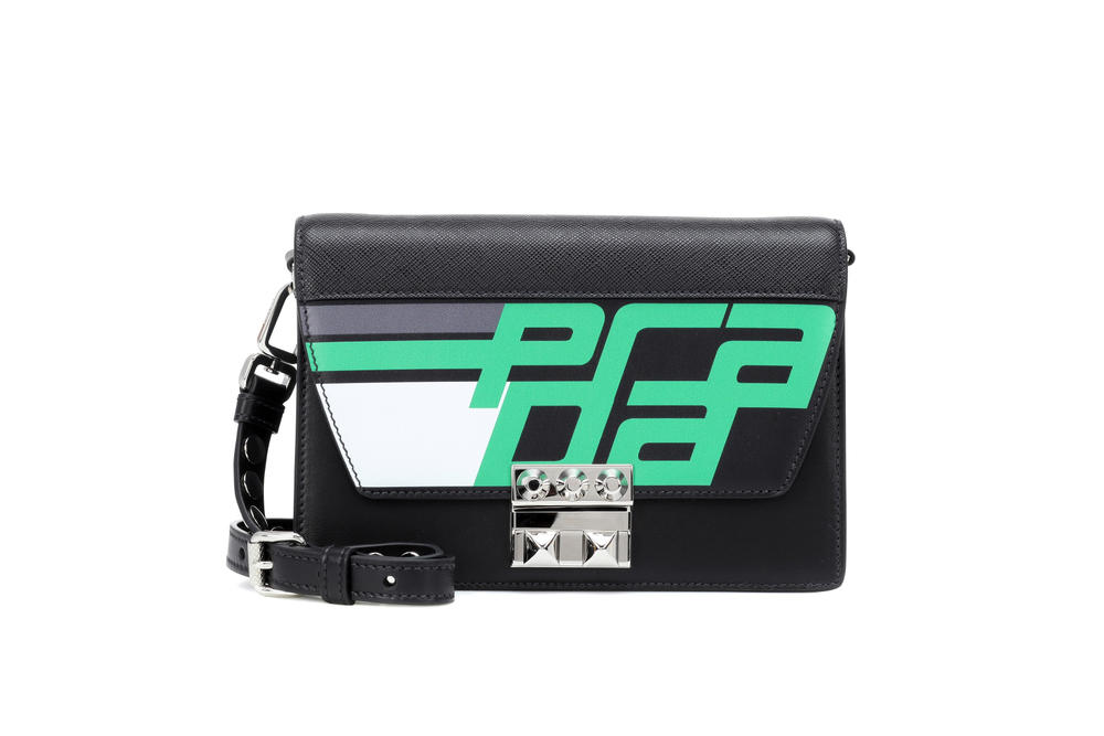 Prada Elektra Bag Fall/Winter 2018 Sporty Print Black Leather