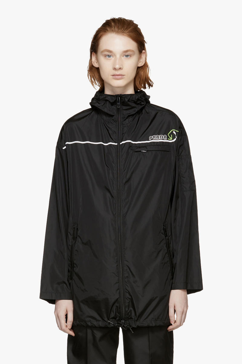 Prada Retro Sport Nylon Jacket Black Fall Winter 2018