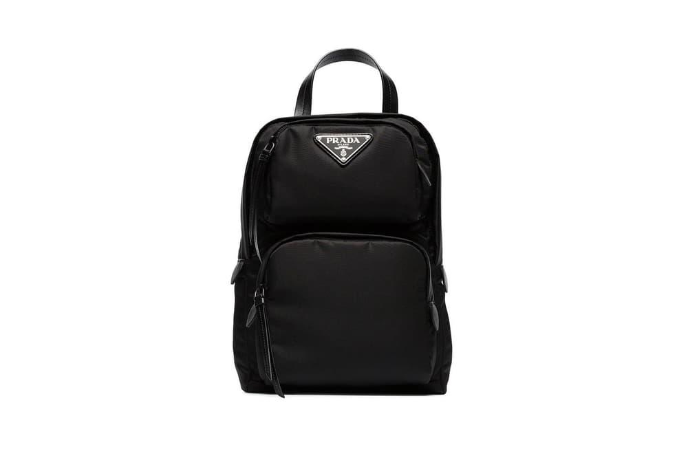 Prada One Shoulder Backpack Pink Black