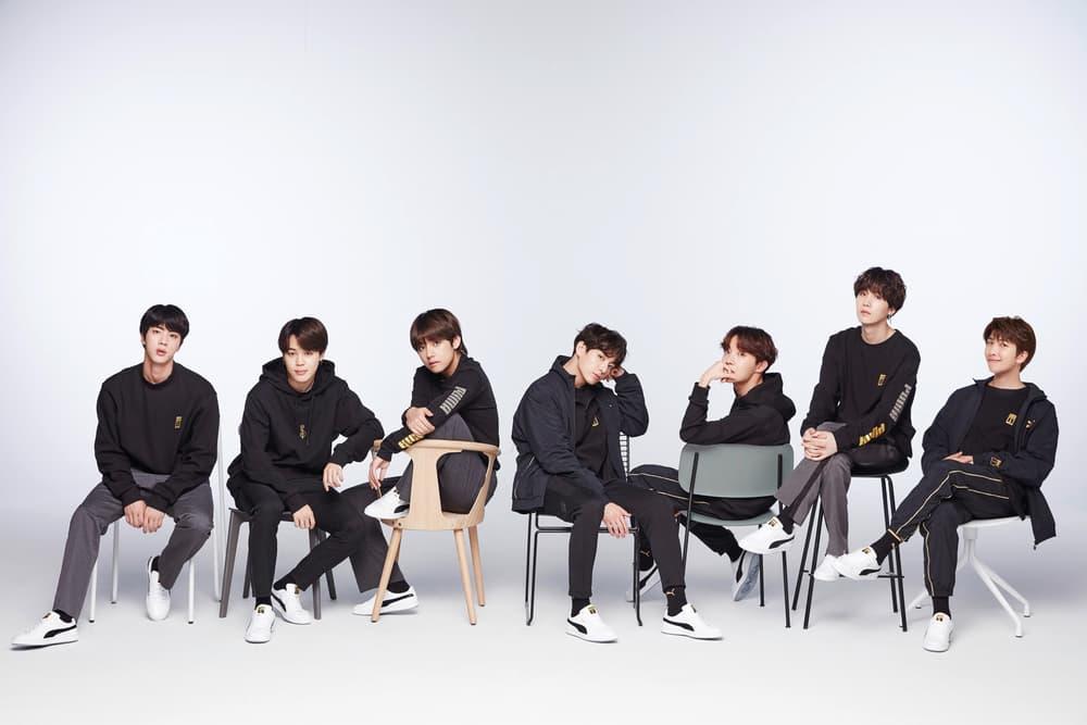 PUMA K-Pop Group BTS Basket Sneaker Lookbook