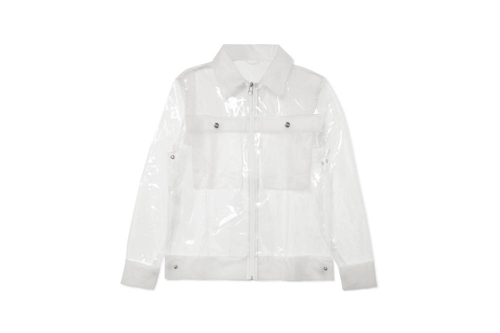 Rains x Net-a-Porter Capsule Collection Glossed TPU Jacket Clear