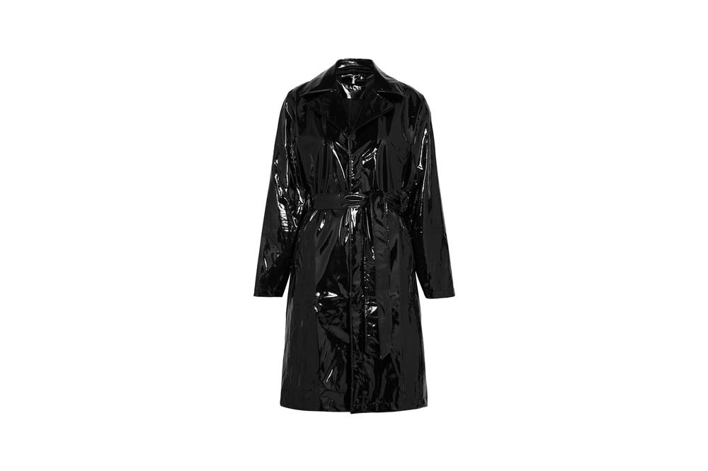 69ca676f485bcc Rains x Net-a-Porter Capsule Collection Glossed-PU Trench Coat Black