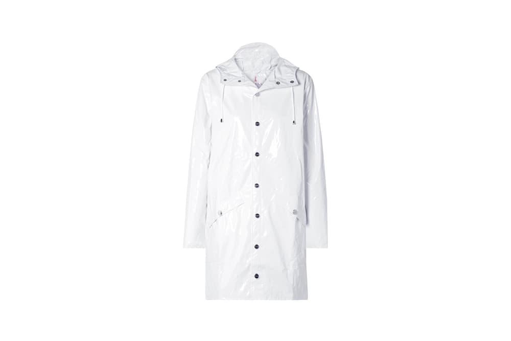 e044d92f4c26b7 Rains x Net-a-Porter Capsule Collection Glossed-PU Rain Coat White