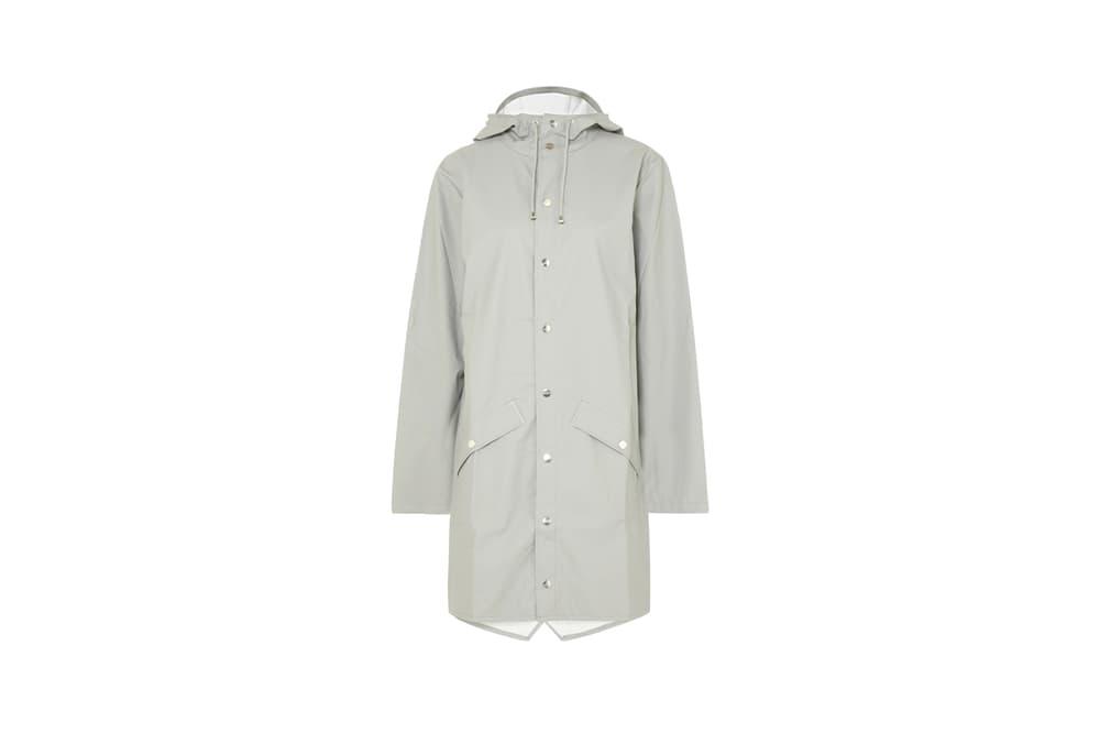 Rains x Net-a-Porter Capsule Collection Hooded Matte-PU Raincoat Grey