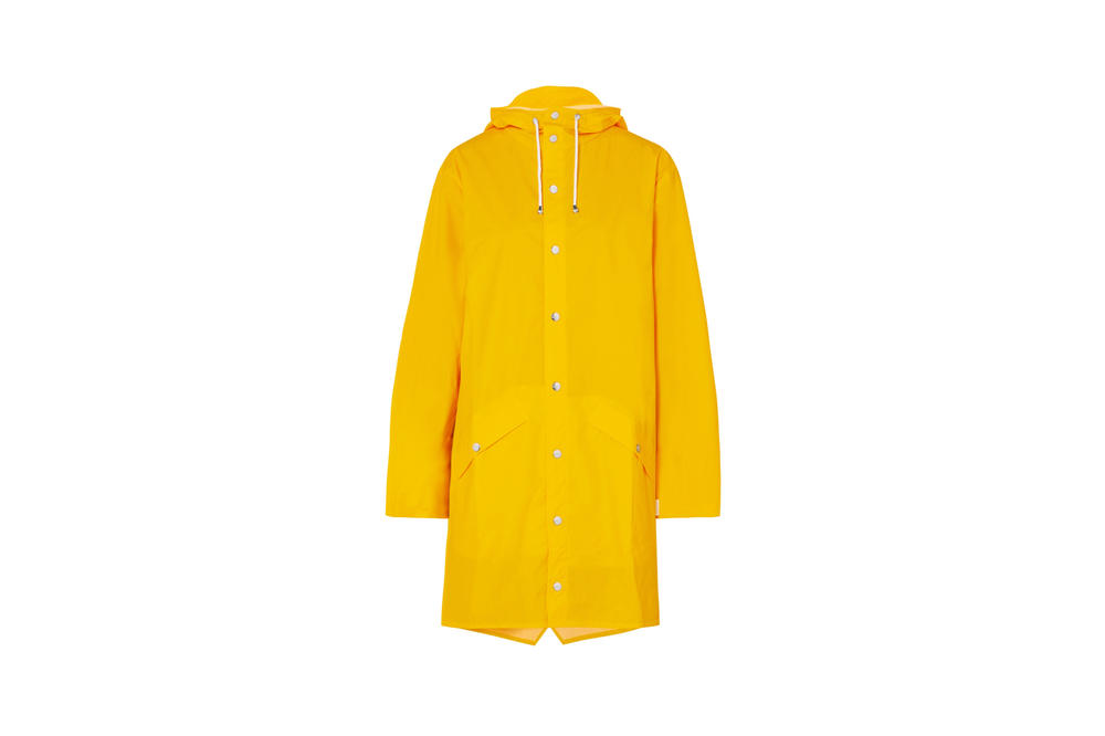 Rains x Net-a-Porter Capsule Collection Hooded Matte-PU Raincoat Yellow