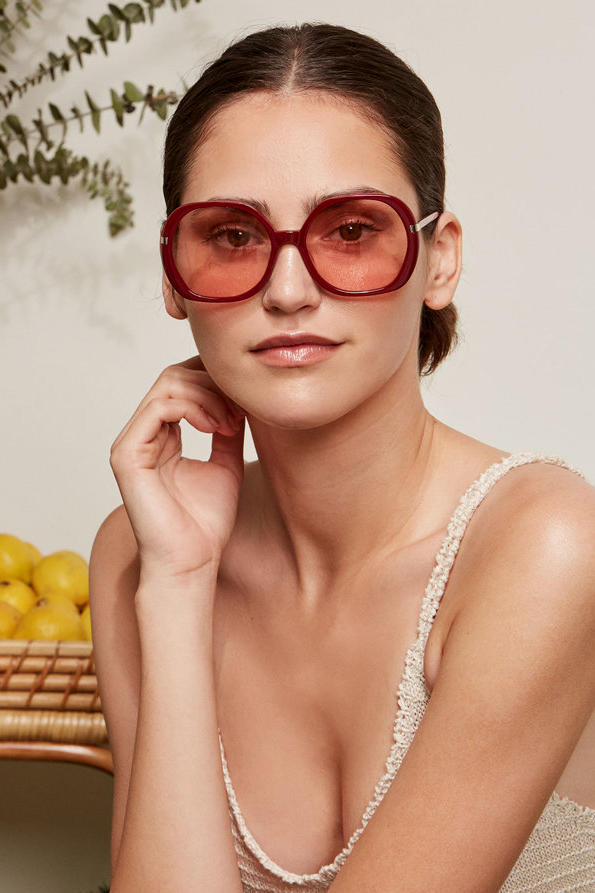 Reformation Sunglasses Collection Bianca Wine