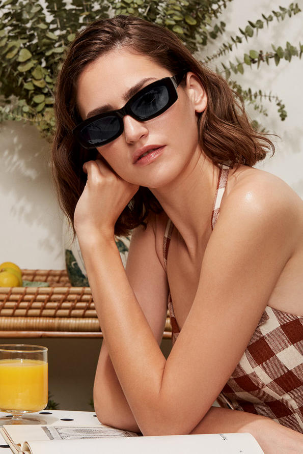 Reformation Sunglasses Collection Francoise Black