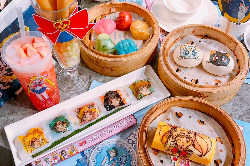 Sailor Moon Dim Sum Icon Hong Kong Dumplings Cakes Drink Lunch Brunch Chinese Tea