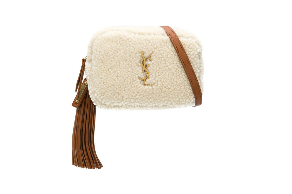 Saint Laurent Lou Belt Bag Shearling White