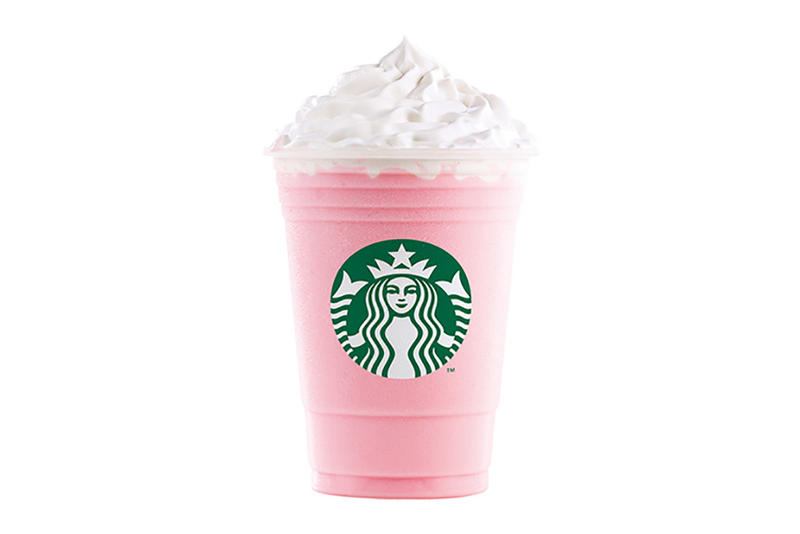 Starbucks Mexico Bubblegum Cotton Candy Pink Blue Back To The Flavor Frappuccino