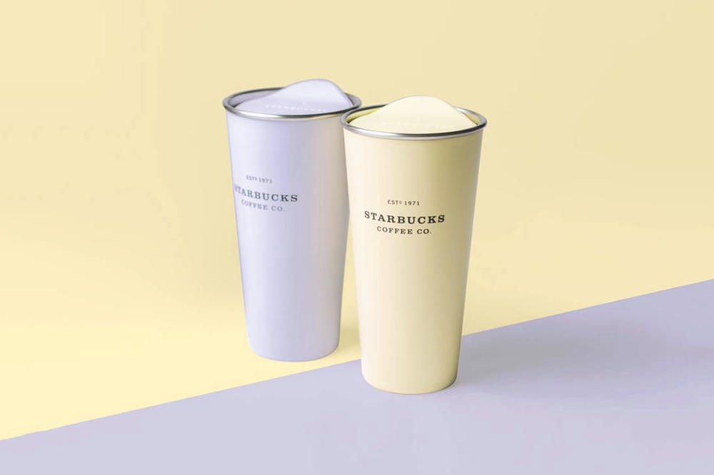 Starbucks Pastel Lilac Yellow Stainless Steel 16oz Tumbler