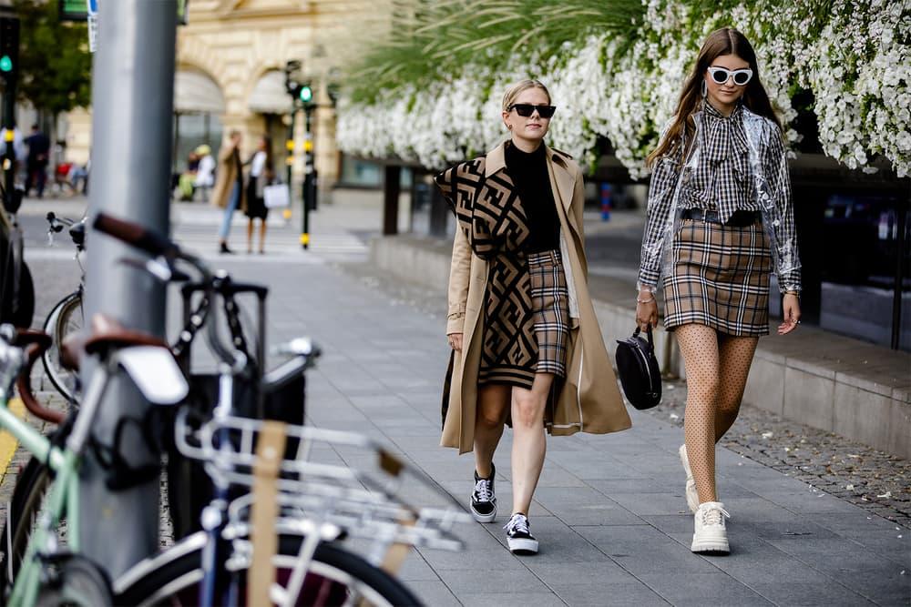 stockholm fashion week spring summer 2019 ss19 street style snaps burberry balenciaga dior supreme misbhv ganni fendi vans