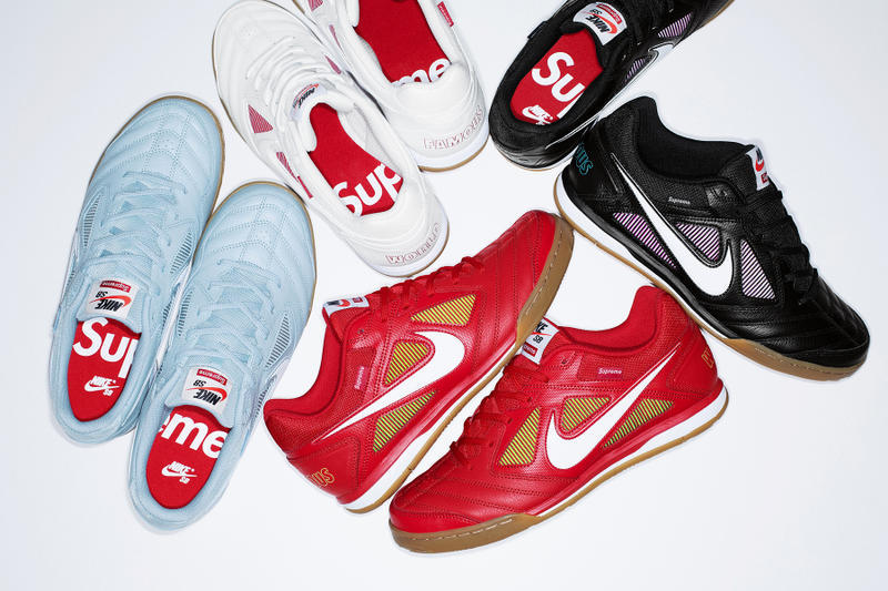 Supreme Nike SB Gato Red Blue Black White Fall Winter 2018