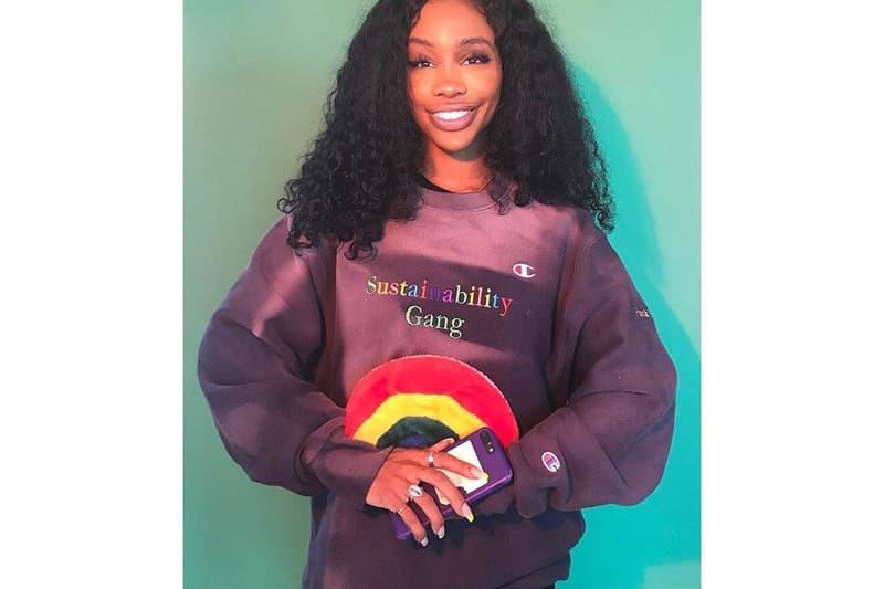 SZA Champion Sustainability Gang Sweater
