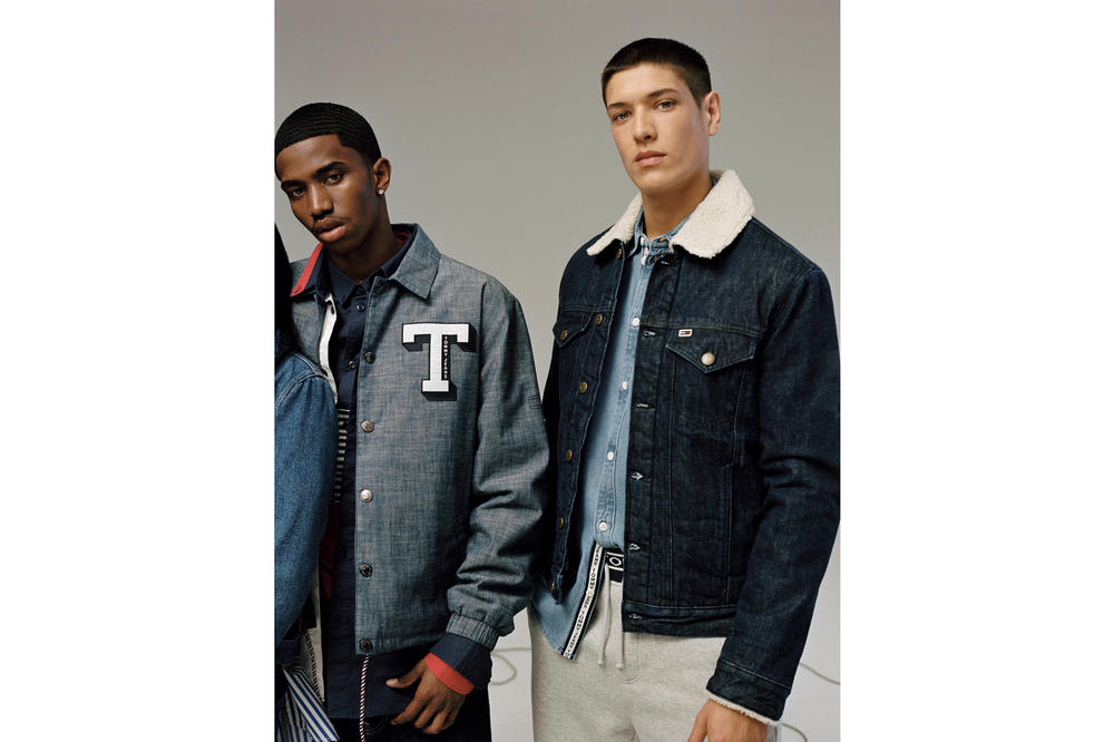 Tommy Jeans Fall/Winter 2018 Campaign Christian Combs Aaron Unknown Denim Coach Jacket Blue
