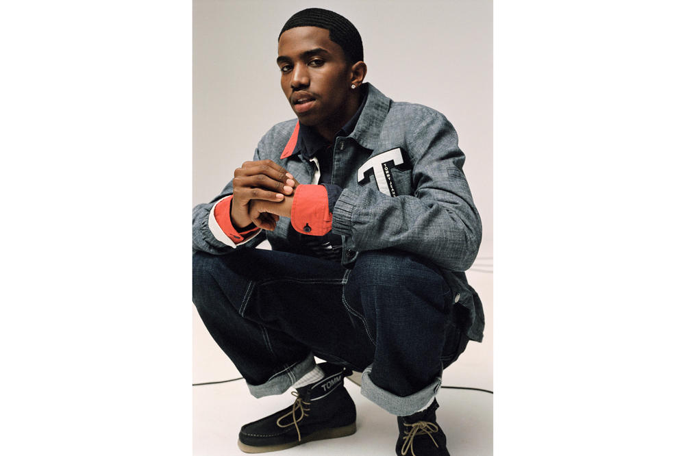 Tommy Jeans Fall/Winter 2018 Campaign Christian Combs Denim Coach Jacket Blue