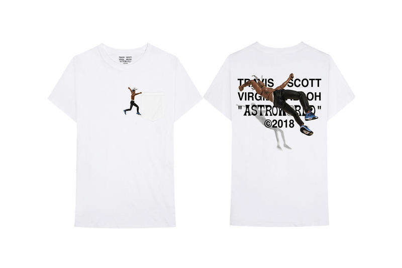 Travis Scott Astroworld Virgil Abloh Design Merchandise Merch T-Shirt Album Drop Tour