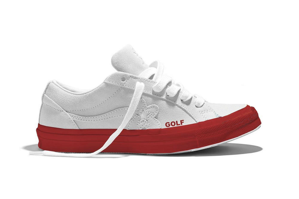 Tyler, the Creator Golf Le Fleur Converse One Star Lollapalooza Unreleased White Red Sneaker Shoe