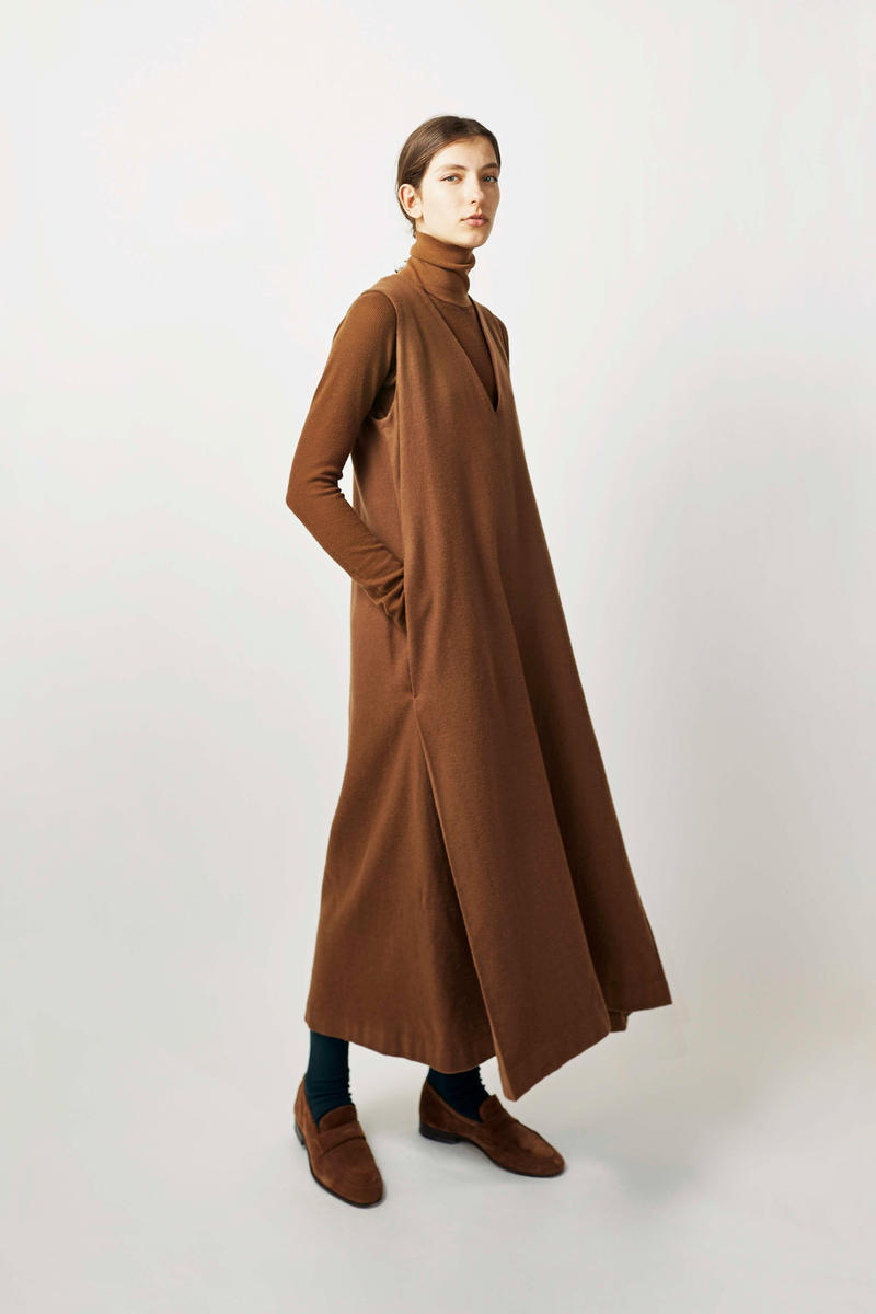 undecorated Fall/Winter 2018 Lookbook Dress Top Brown