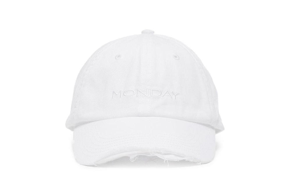 Vetements Weekday Embroidered Baseball Caps Monday Tuesday Wednesday Thursday