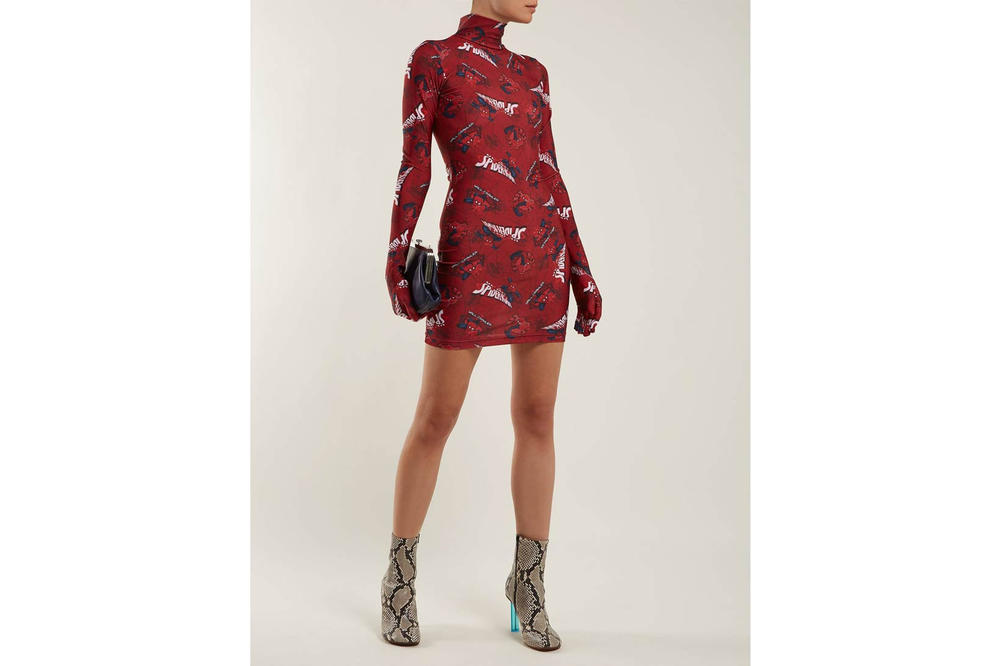 Vetements Spiderman Glove Dress Red
