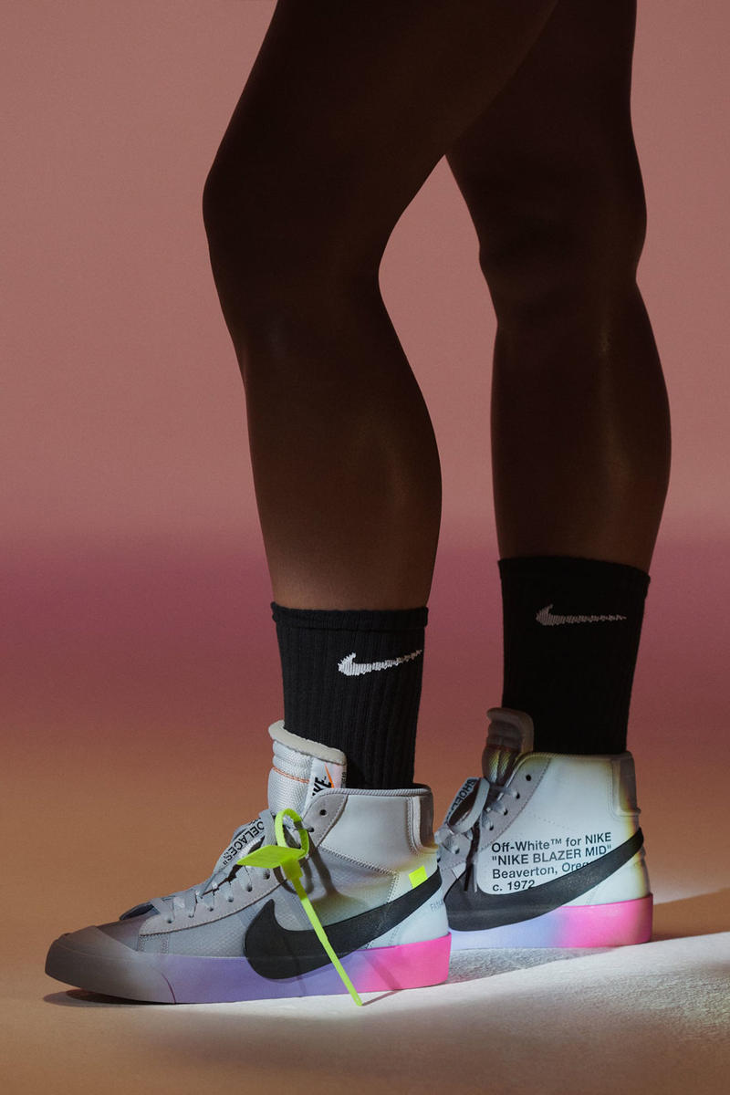 ebc15e87404d3 Virgil Abloh Serena Williams Off-White Nike QUEEN Collection Blazer Mid SW  Grey Pink