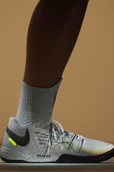 Virgil Abloh Serena Williams Off-White Nike QUEEN Collection NikeCourt Flare 2 PE Silver