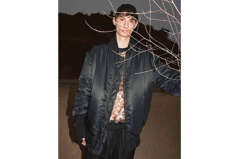Y-3 Fall/Winter 2018 Collection Lookbook AOP Mesh Cropped Tee Brown Jacket Black