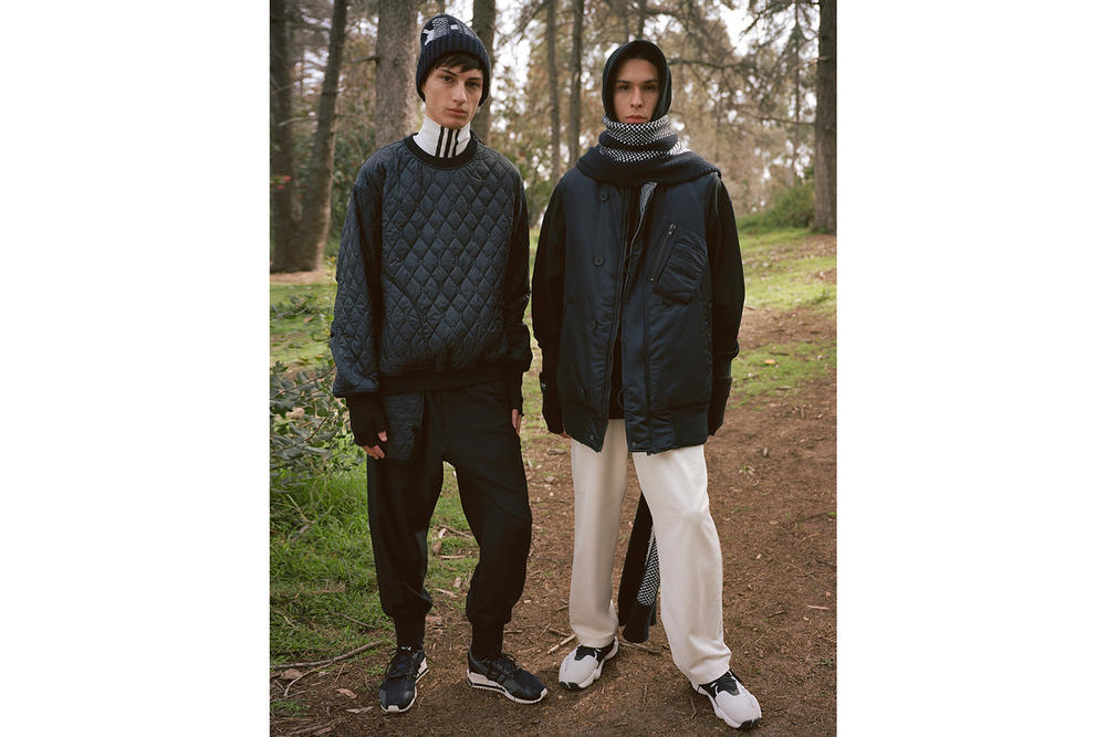 Y-3 Fall/Winter 2018 Collection Lookbook Quilted Sweater Sweatshirt Jacket Black