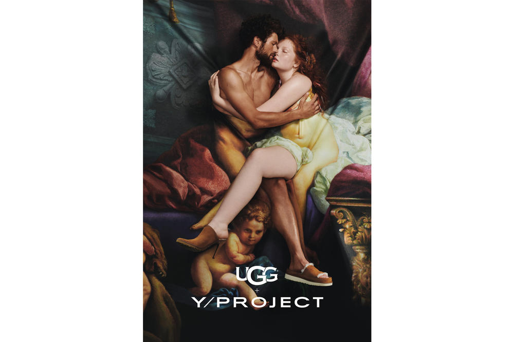 Y/Project x UGG Footwear Campaign Classic Coquette Slide Classic Mule Brown