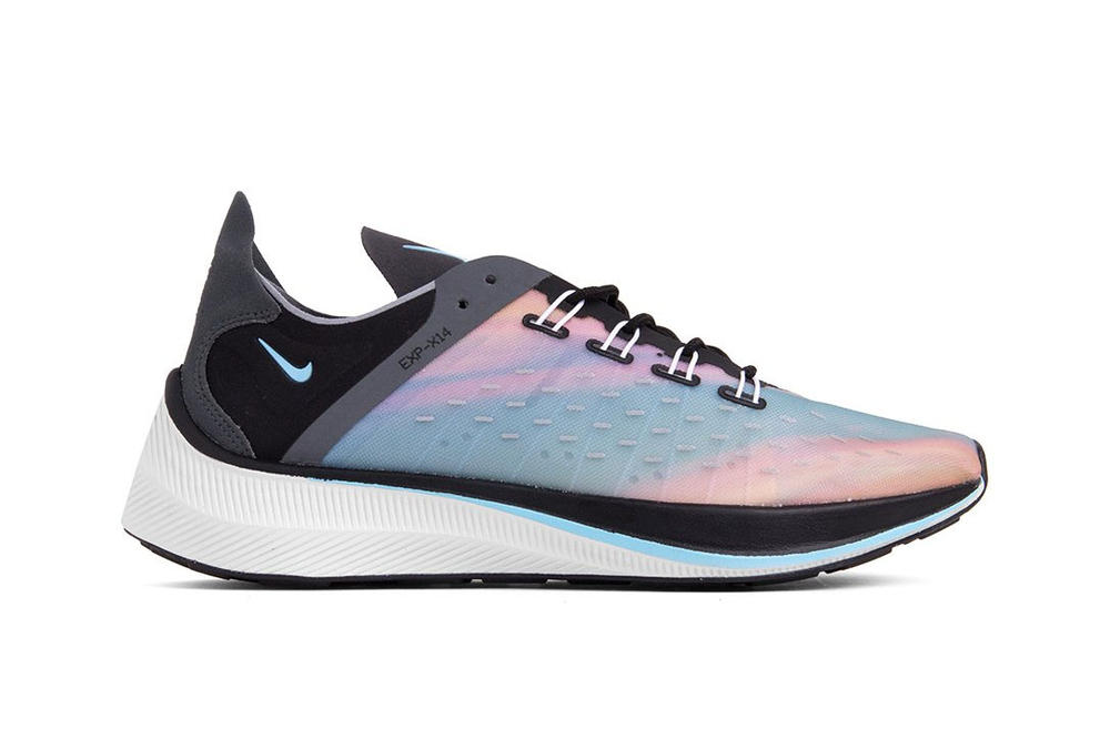 "Nike EXP-X14 ""Black/Wolf Grey/Blue Chill"" Shoe Black White"