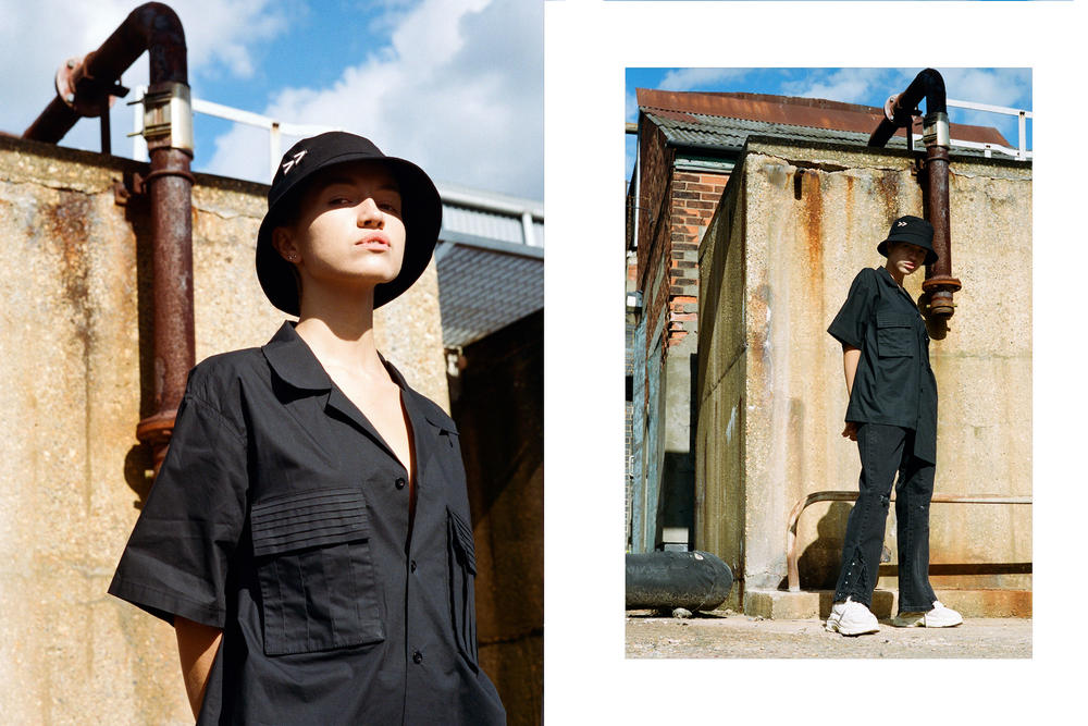 Tourne De Transmission TDT Fall/Winter 2018 Lookbook Streetwear Fashion Black Tactical Hat Range