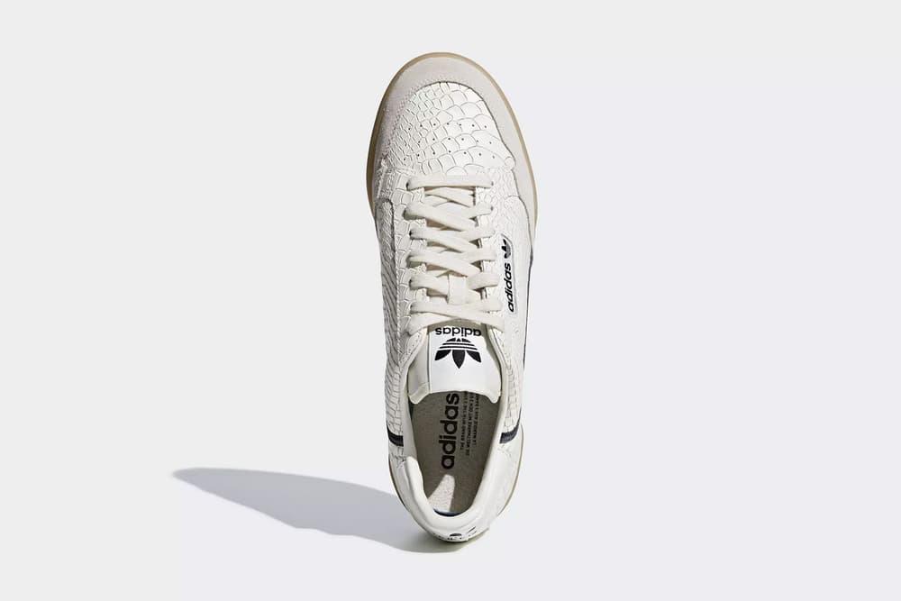 best service e9d3f b7f64 adidas originals continental 80 faux python skin core black chalk white  yeezy powerphase