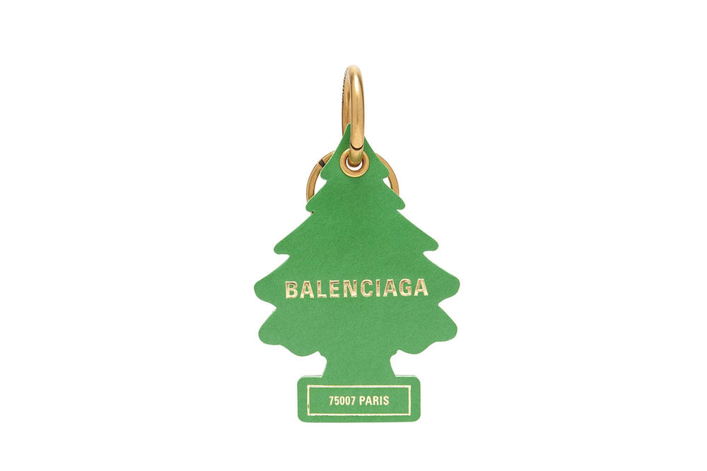 Balenciaga Air Freshener Tree Keychain Green Logo Accessory