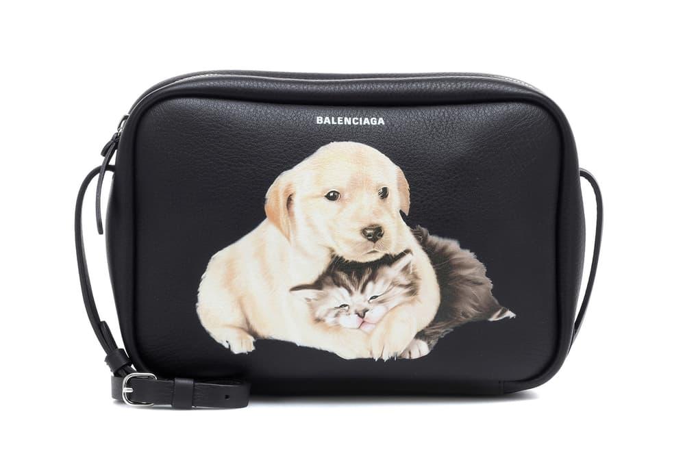 Balenciaga Puppy Kitten Print Camera Bag