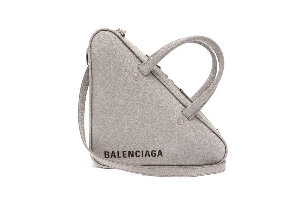 95f73f989fd0 Balenciaga Releases Glitter Triangle Duffle S Bag