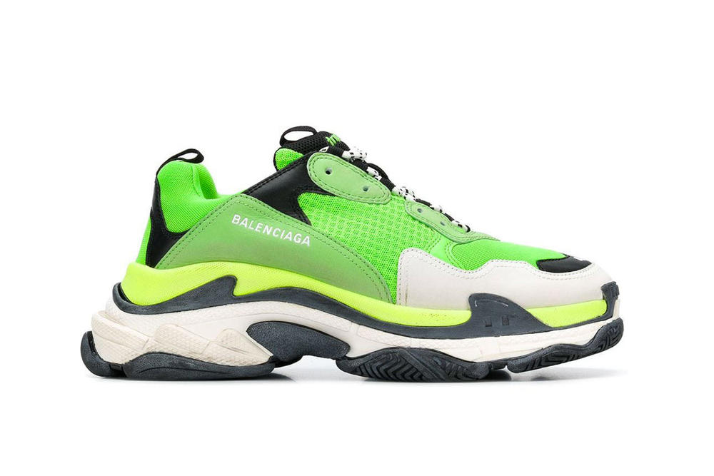 Balenciaga Triple S Where To Buy Neon Green Black White Chunky Shoe Dad Sneaker Fashion
