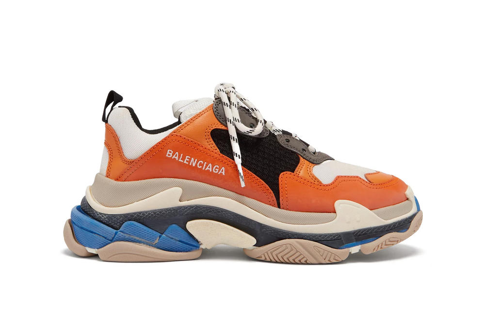 c5ce2cfffebe Balenciaga Triple-S Sneaker In Orange and Blue Chunky Shoe Footwear