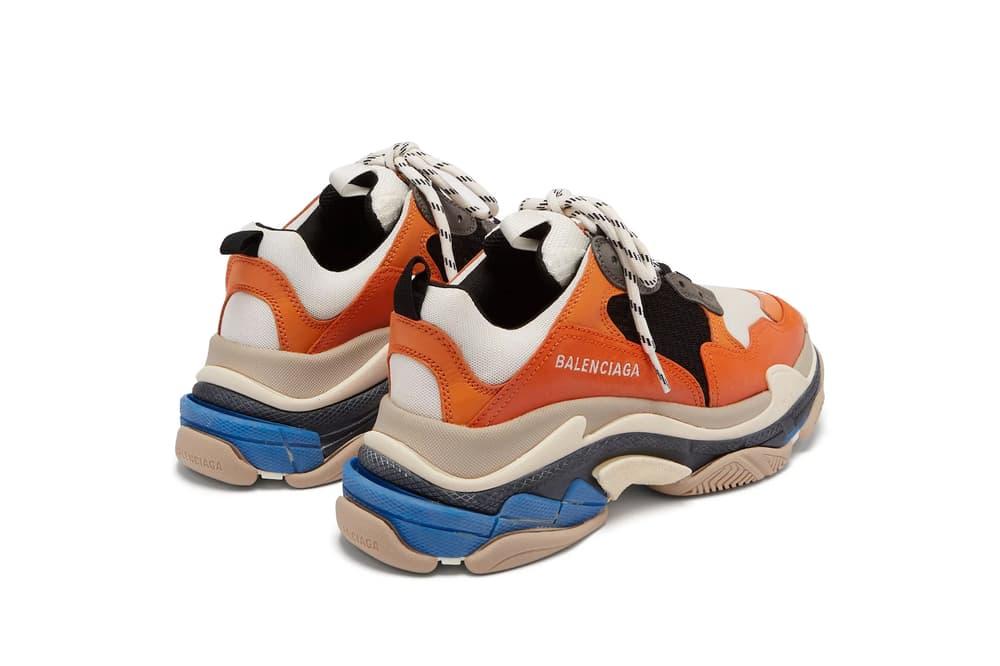 Balenciaga Triple-S Sneaker In Orange and Blue Chunky Shoe Footwear