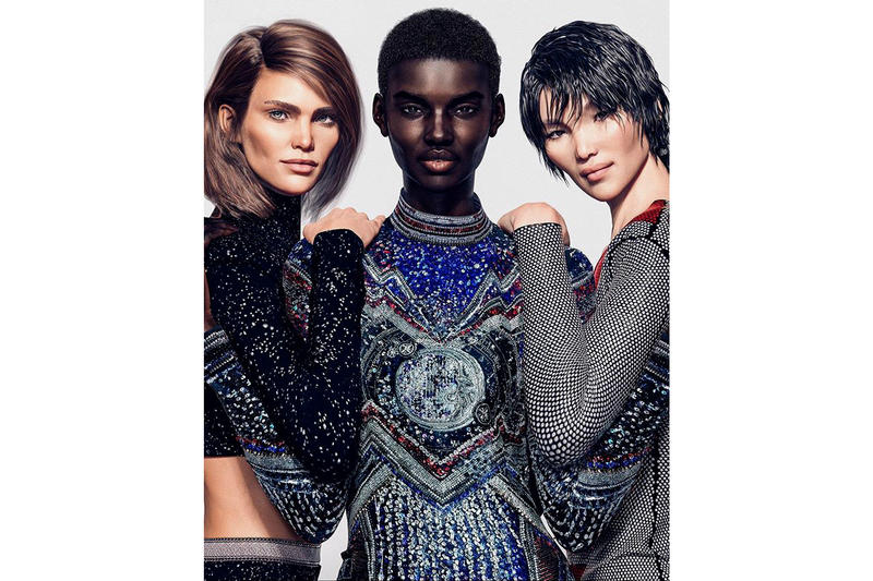 Balmain Fall/Winter 2018 Campaign Shudu Margot Zhi