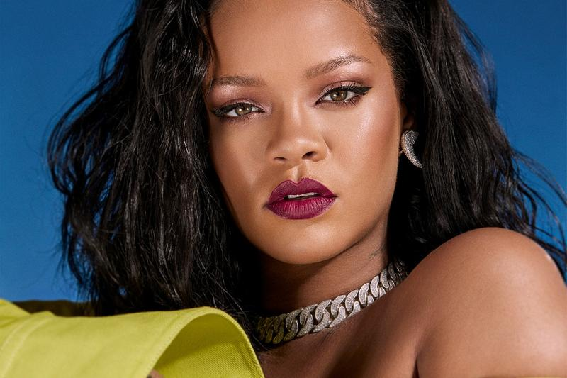 Rihanna Allure Beauty Issue Flower Blue Background 2018