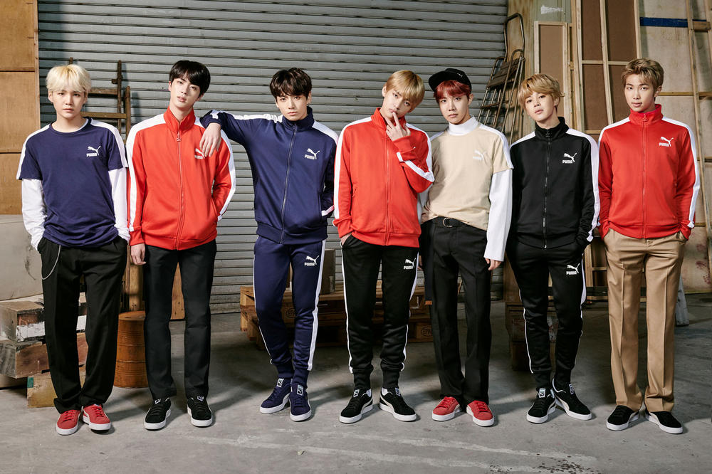 BTS K-Pop Boy Band Group Korean Korea Seoul South Music PUMA Campaign Sportswear Sneakers