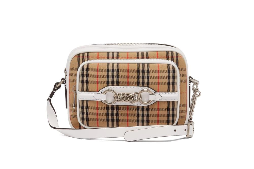 Burberry Nova Check Cross-Body Bag 1983 White Leather Vintage Purse Designer Accessory